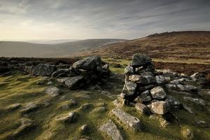 Grimspound Bronze Age Settlement, Dartmoor, Devon. UK February 2007 by Ross Hoddinott