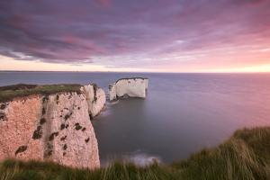 Old Harry Rocks at dawn, Studland, Dorset, England, UK by Ross Hoddinott