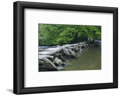 Tarr Steps, Medieval Clapper Bridge Crossing the River Barle, Exmoor National Park, Somerset, UK