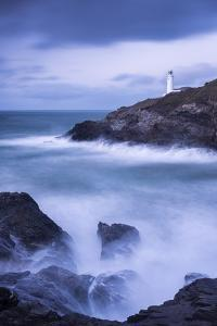 Trevose Lighthouse at dusk, long exposure, Cornwall by Ross Hoddinott