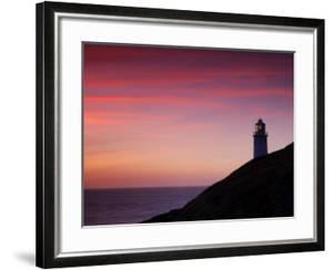 Trevose Lighthouse at Sunset, Near Padstow, Cornwall, Uk. July 2008 by Ross Hoddinott