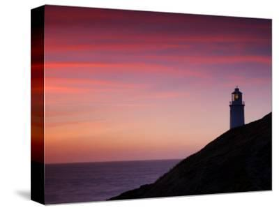Trevose Lighthouse at Sunset, Near Padstow, Cornwall, Uk. July 2008
