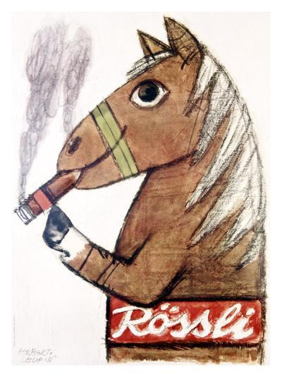 Rossli Cigars-Herbert Leupin-Giclee Print