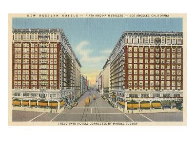 Rosslyn Hotels, Downtown Los Angeles--Art Print