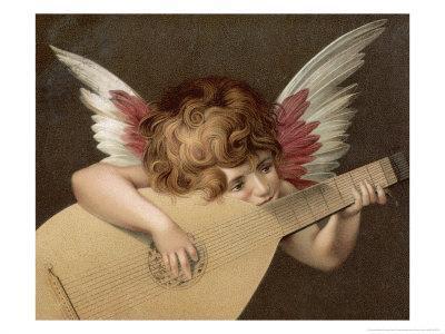 """Puto Che Suona La Guitarra"", a Young Angel Plays the Guitar"