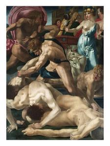 Moses Defends the Daughters of Jethro by Rosso Fiorentino