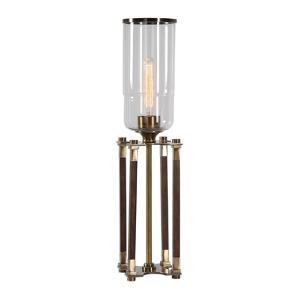 Rostand Wood Column Lamp