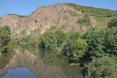 Rotenfels Rock,Nahe River,Germany-travelpeter-Photographic Print