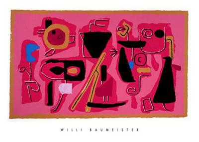 Roter Fries, c.1954-Willi Baumeister-Art Print
