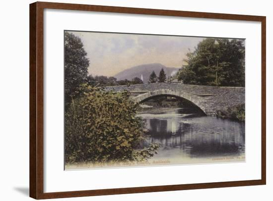 Rothay Bridge and St Mary's Church, Ambleside, Lake District--Framed Photographic Print