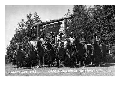 Rothbury, Michigan - Wranglers at the Jack and Jill Ranch-Lantern Press-Art Print