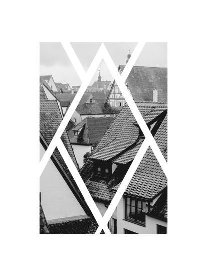 Rothenburg Housetops-Ramona Murdock-Art Print