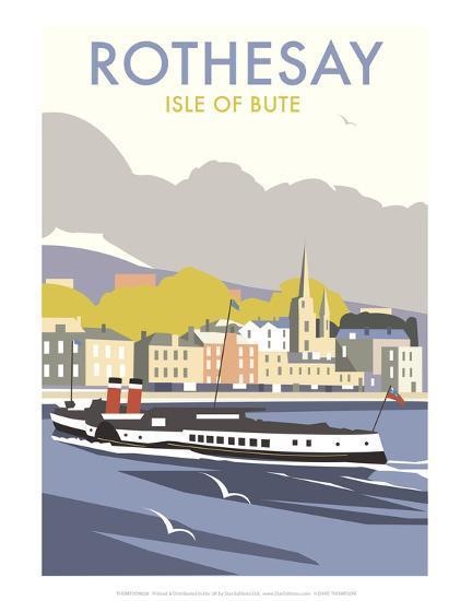 Rothesay, Isle of Skye - Dave Thompson Contemporary Travel Print-Dave Thompson-Art Print