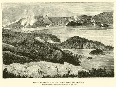 Rotomahana, or the Warm Lake, New Zealand--Giclee Print