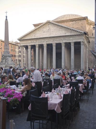 Rotonda Square and Pantheon, Rome, Lazio, Italy, Europe-Marco Cristofori-Photographic Print