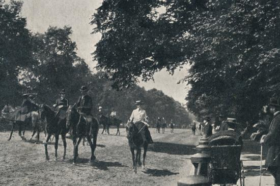 'Rotten Row, Hyde Park', c1900-Unknown-Photographic Print