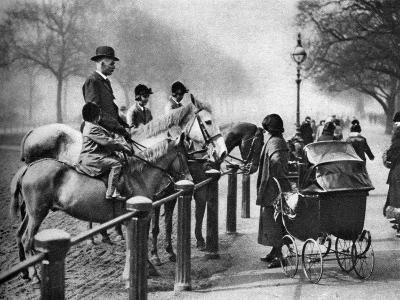Rotten Row, Hyde Park, London, 1926-1927--Giclee Print