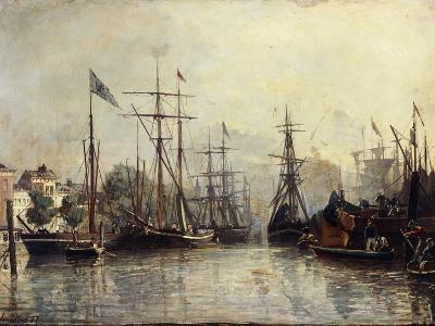 Rotterdam Harbour-Johan Barthold Jongkind-Giclee Print