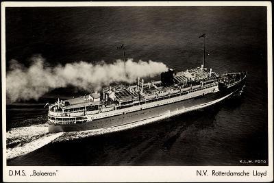 Rotterdamsche Lloyd, Krl, D.M.S. Baloeran, Dampfer--Giclee Print