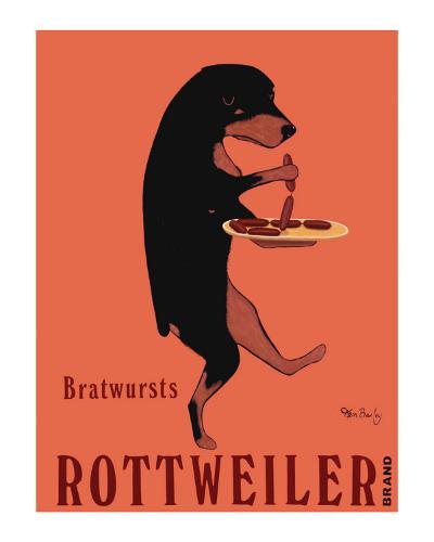 Rottweiler Brand-Ken Bailey-Collectable Print