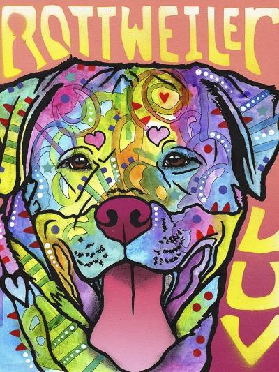 Rottweiler Luv-Dean Russo-Giclee Print