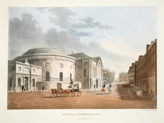 Rotunda and New Rooms, Dublin, 1795-James Malton-Giclee Print