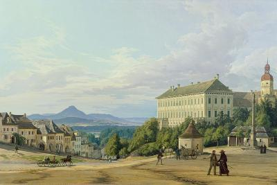 Roudnice Castle from the Town, 1840-Carl Robert Croll-Giclee Print