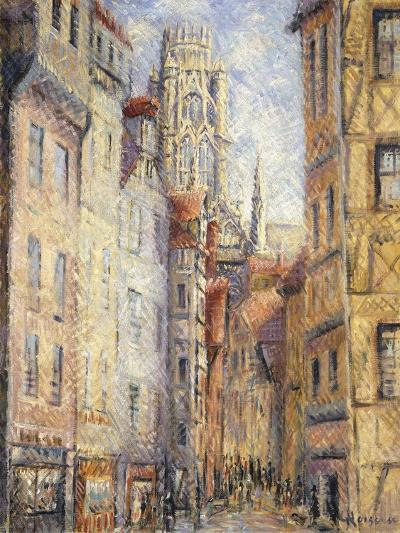 Rouen, a Street by the Church; Rouen, Rue Avec L'Eglise, C.1920-Gustave Loiseau-Giclee Print