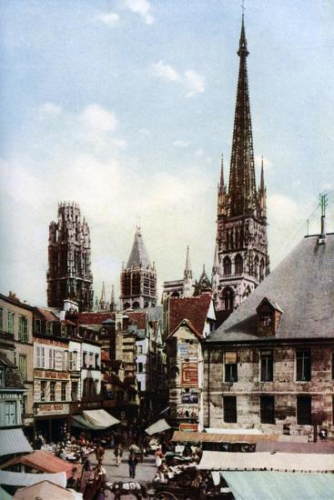 Rouen Cathedral, Normandy, France, C1930S-Donald Mcleish-Giclee Print