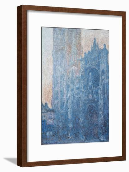 Rouen Cathedral, Portal, Morning Light, 1894-Claude Monet-Framed Giclee Print