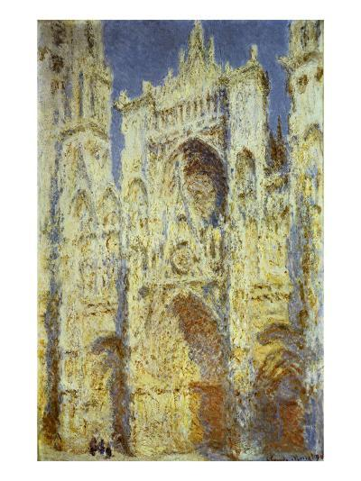 Rouen Cathedral, West Facade, Sunlight, 1894-Claude Monet-Giclee Print