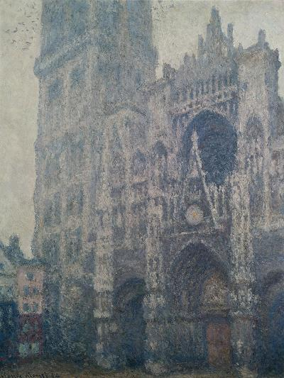 Rouen Cathedral, West Portal, Grey Weather, 1894-Claude Monet-Giclee Print