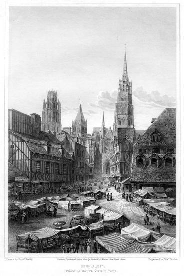 Rouen, from La Haute Vieille Tour, 1820-Edward Finden-Giclee Print