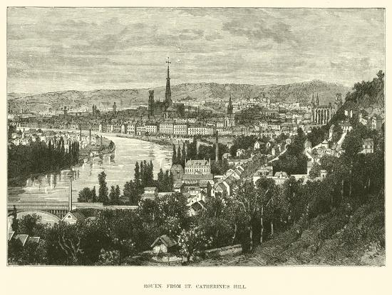 Rouen from St Catherine's Hill--Giclee Print