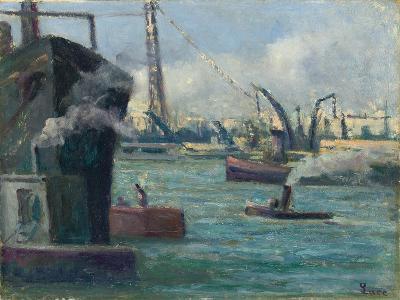 Rouen Port-Maximilien Luce-Giclee Print