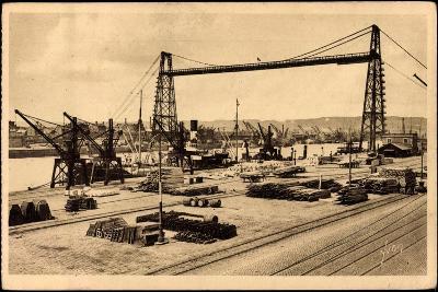 Rouen Seine Maritime, Le Pont Transbordeur--Giclee Print