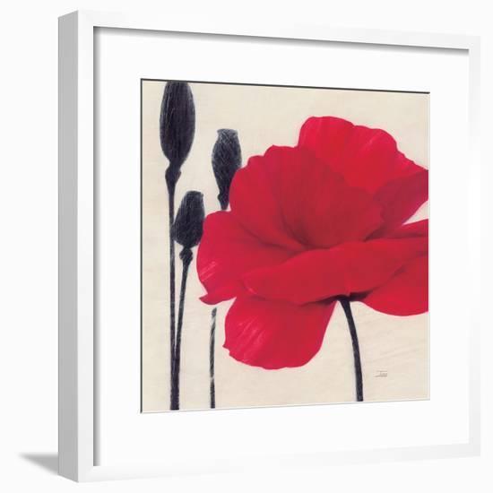 Rouge-Ivo-Framed Art Print