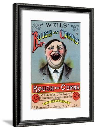 Rough on Corns--Framed Art Print