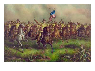 Rough-Riders, Col. Theodore Roosevelt, U.S.V. Commander--Art Print