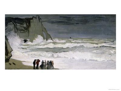 Rough Sea at Etretat, 1868-69-Claude Monet-Giclee Print