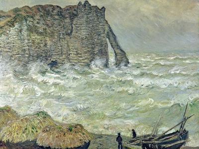 Rough Sea at Etretat, 1883-Claude Monet-Giclee Print