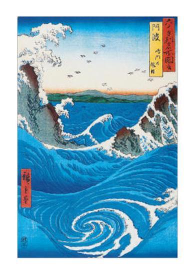 Rough Sea at Naruto in Awa Province-Ando Hiroshige-Art Print