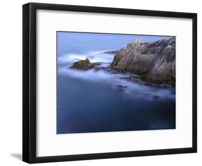 Rough Sea Hitting Cliffs on the East Coast of Puerto Rico-Raul Touzon-Framed Photographic Print