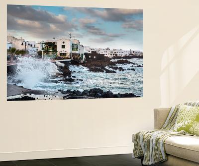 Rough Sea, Punta De Mujeres, Lanzarote, Canary Islands, Spain-Sabine Lubenow-Wall Mural
