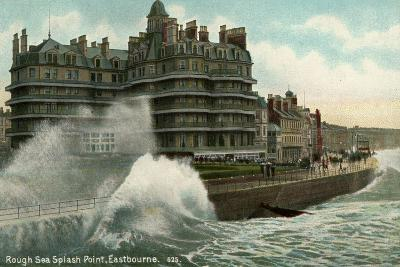 Rough Sea, Splash Point, Eastbourne, Sussex, C1912--Giclee Print