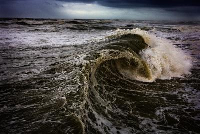 Rough Waves Break Just Off the Outer Banks in North Carolina-Chris Bickford-Photographic Print