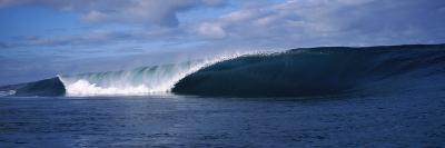 Rough Waves in the Sea, Tahiti, French Polynesia--Photographic Print