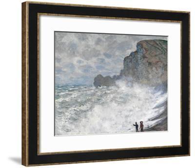 Rough Weather at Etretat-Claude Monet-Framed Premium Giclee Print