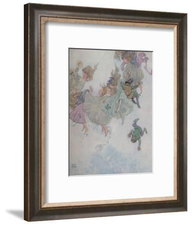 'Round and Round They Went, Such Whirling and Twirling', c1930-W Heath Robinson-Framed Giclee Print