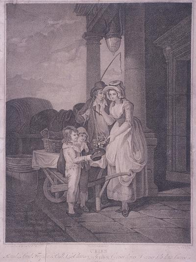 Round and Sound Fivepence a Pound Duke Cherries, Cries of London, 1795-Antoine Cardon-Giclee Print
